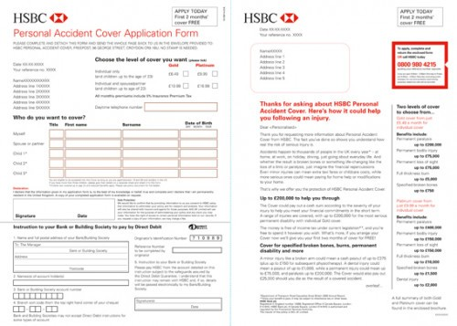 Protection insurance Personal Accident with HSBC,
