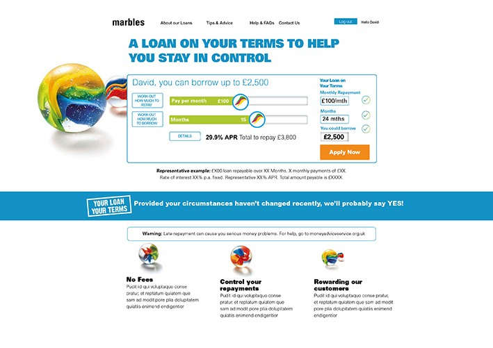 NewDay MVP proof of concept strategic work, financial services, creative consultants