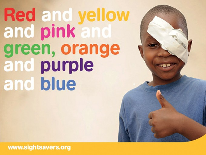 Sightsavers test campaign